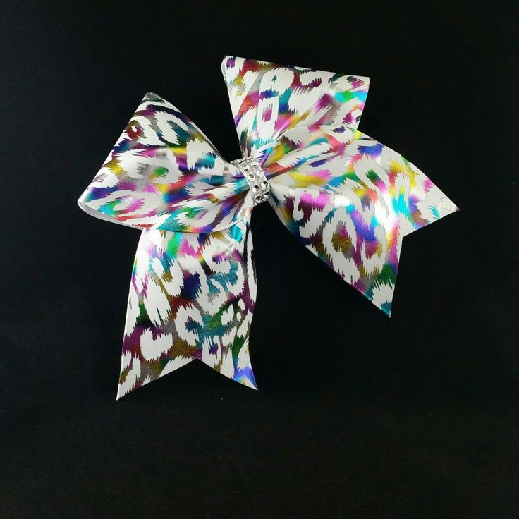 Cheer bow, White cheetah cheer bow, cheerleader bow ,dance bow, cheerleading bow, rec cheer, softball bow, Cheerbow, pop warner cheer bow by MadeForMeCheerBows on Etsy https://www.etsy.com/listing/289121729/cheer-bow-white-cheetah-cheer-bow