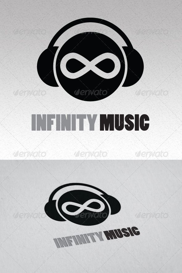 Infinity Music Logo  #GraphicRiver         Logo is 100% vector, making it fully resizeable with no loss of quality. CMYK – 300 dpi The Pack included: Ai, EPS   	 FONT : Poplar STD Black – Basic Adobe Font  	 if you buy and like it, please vote. thank you     Created: 17December12 GraphicsFilesIncluded: VectorEPS #AIIllustrator Layered: No MinimumAdobeCSVersion: CS Resolution: Resizable Tags: b&w #black #brand #creative #dj #funny #infinity #logo #music #radio #simple #sound