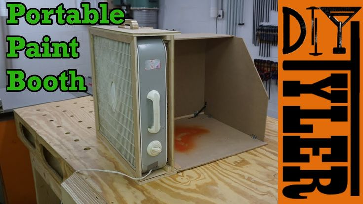 Portable Paint Spray Booth | How To - YouTube | Wood working project | Pinterest | Shop ideas ...