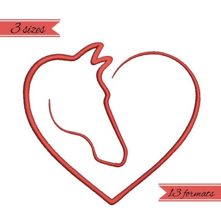 Horse love embroidery machine designs, wedding pattern,heart,merried by WeddingdesignStore on Etsy