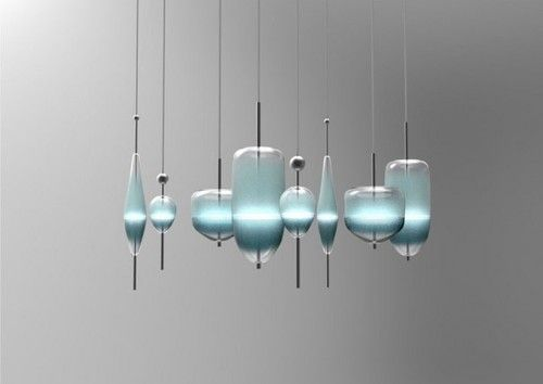 U201cFlow(t)u201d Chandelier Lighting By Nao Tamura For Wonderglass Inspired By The  Colors Of The Venetian Lagoon