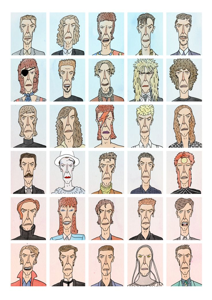 David Bowie - Pop Culture Portraits by Curtis Rosenthal