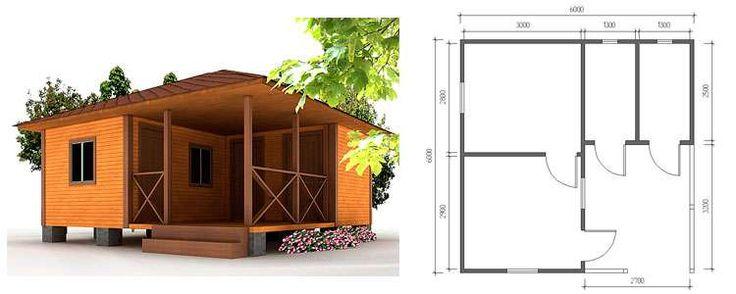 Дачные дома эконом класса – варианты, конструкция, советы по планировке