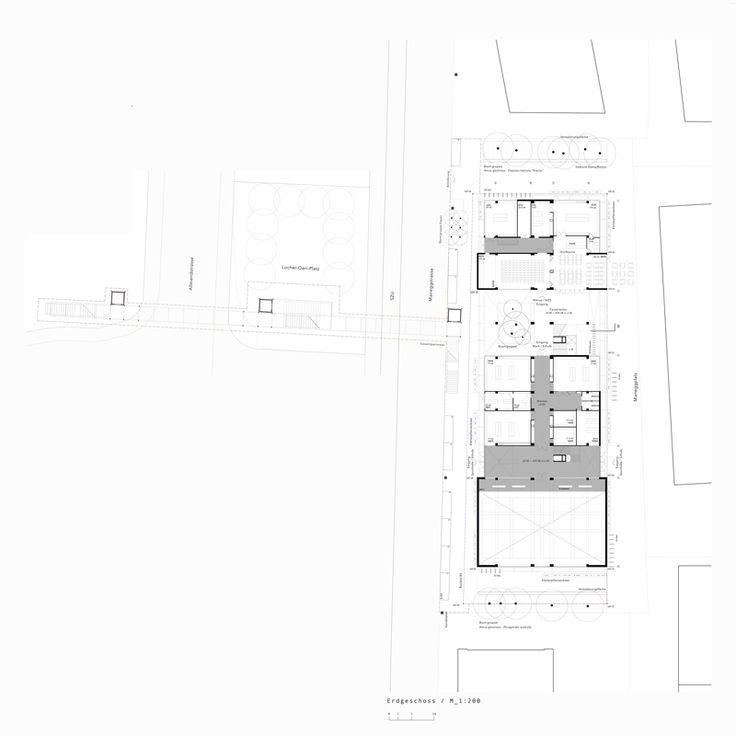 Competition for a primary School in Allmend, Zurich, September 2016. draftworks* architects & dk werkraum. Ground level