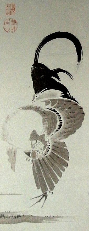 伊藤若冲「鶏図」