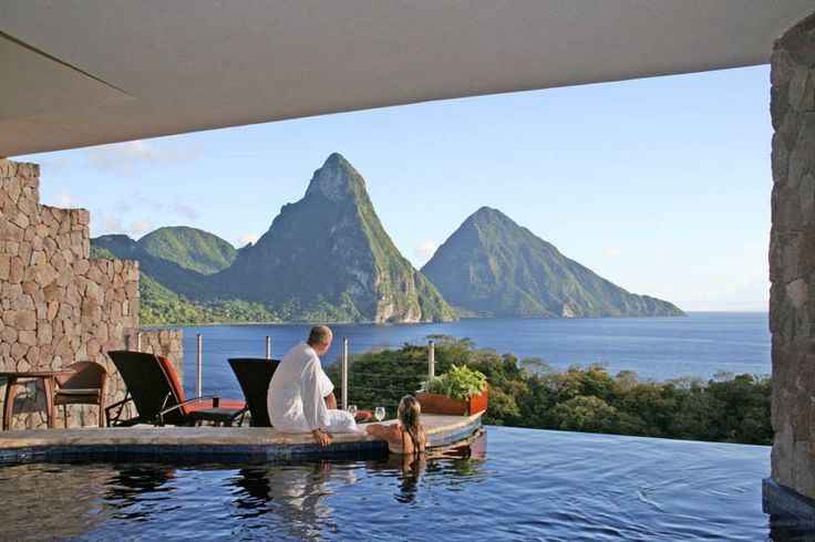 St. Lucia infinity poolBuckets Lists, Jade Mountain, Dreams, St Lucia, Travel, Places, Caribbean, Mountain Resorts, St Lucia