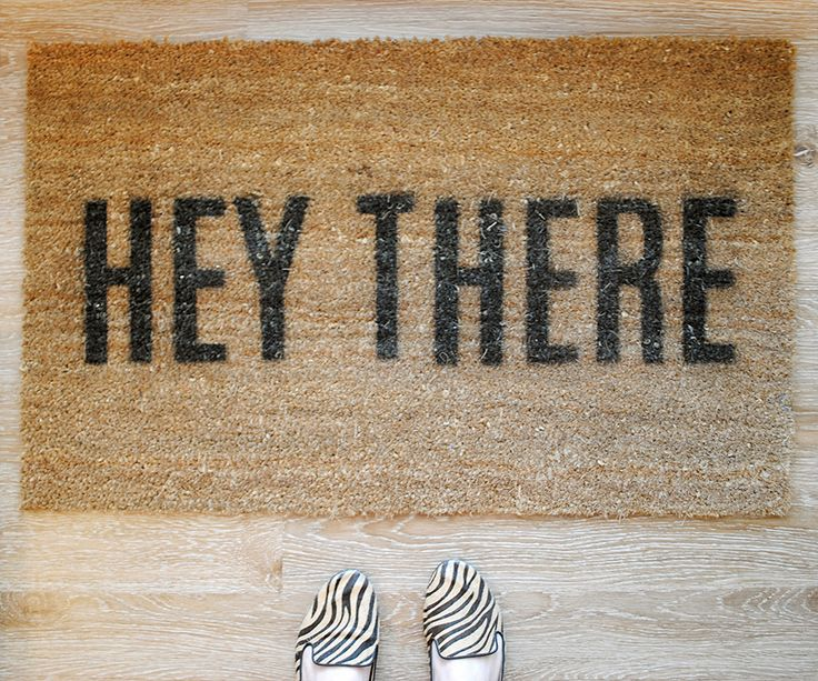 Griffanie » made by hand: hey there doormat