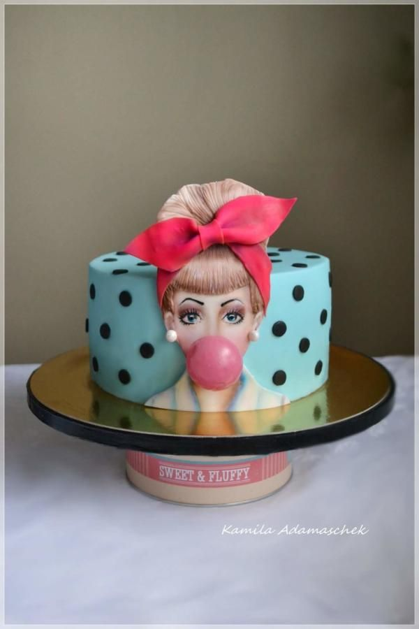 Swell Pinup By Kamilaadamaschek Pasteles De Fondant Tortas Tortas Funny Birthday Cards Online Sheoxdamsfinfo