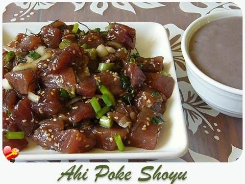 Delicious Shoyu Ahi Poke recipe. Get more Hawaiian and local style recipes here.