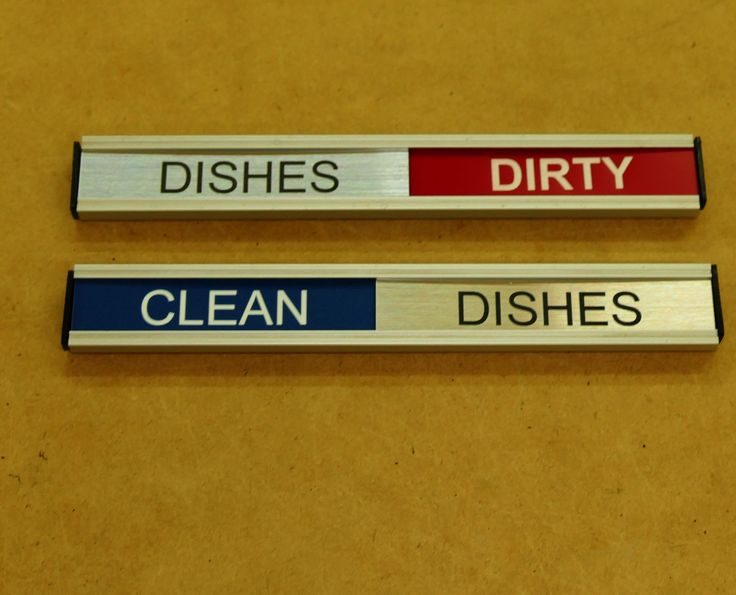 Dishwasher clean dirty status sign
