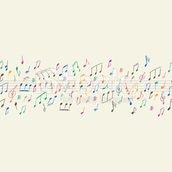 Note musicali senza cuciture arte vettoriale stock royalty-free