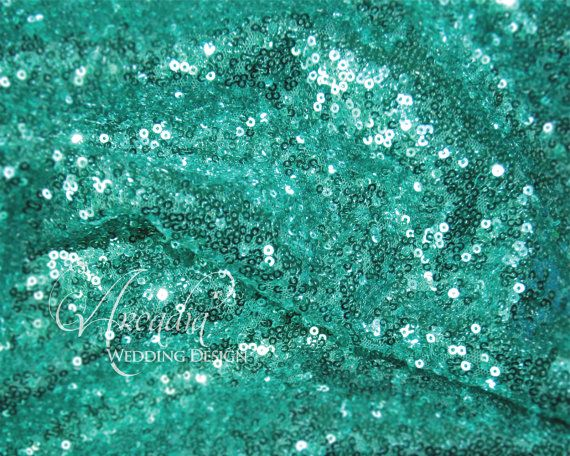 Menta verde paillettes Table Runner di ArcadiaWeddingDesign