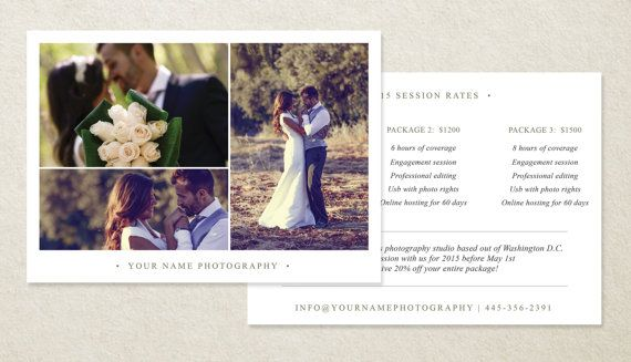 Wedding Photographer Pricing Guide | Welcome Packet Template | Photoshop Pricing Guide Template