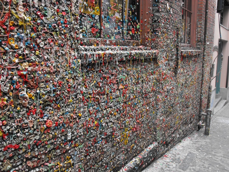 Seattle Gum Wall - voted 2nd Germiest Place in the World by TripAdvisor!