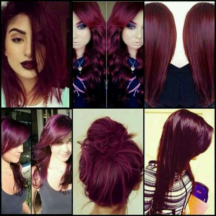 Love the wine hair color ❤                                                                                                                                                     More