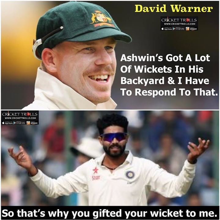Ravindra Jadeja dismisses David Warner on a full-toss delivery! For more cricket fun click: http://ift.tt/2gY9BIZ #IndvAus #INDvsAUS - http://ift.tt/1ZZ3e4d