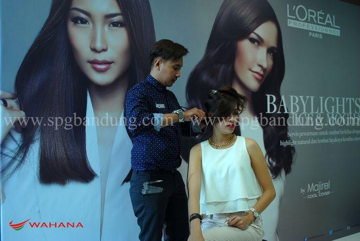 Model Bandung dalam workshop hair cut & coloring   agency model bandung, agency spg bandung, spg event bandung. model bandung dalam workshop Loreal Bandung