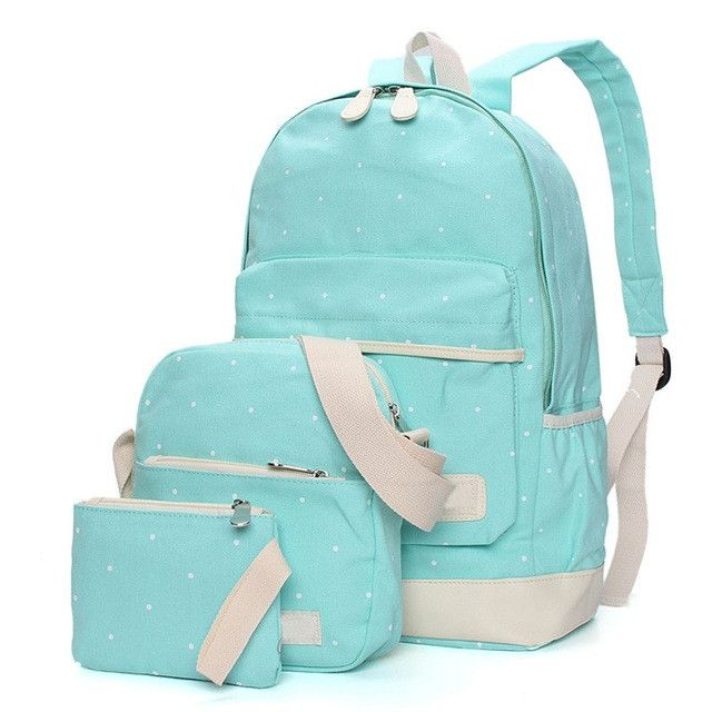 Osmond Solid Color Women Backpack High Quality Fashion Cute Canvas Backpack Female School Bags For Teenagers Mochila Bag Set