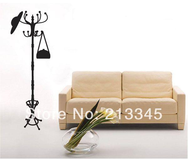 [Суббота Монополия] 50x140 см (20x55in) black творческий гостиной настенные вешалка hat сумка домашнего декора стикеров этикеты съемный пвх