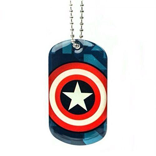 Captain America Shield Metal Dog Tag @ niftywarehouse.com
