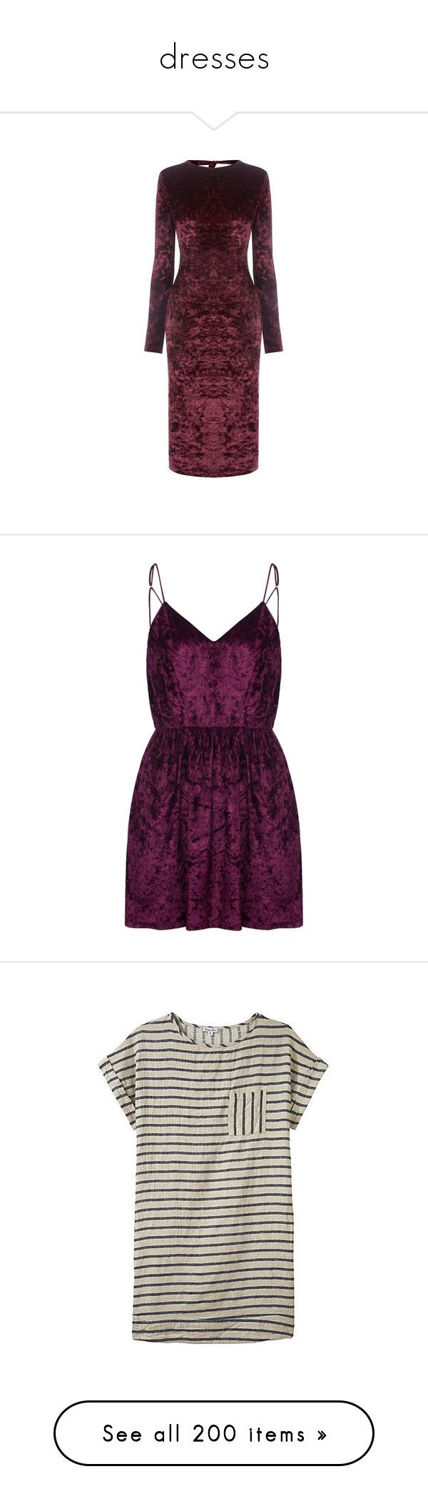 """dresses"" by sinyukovayulya ❤ liked on Polyvore featuring dresses, berry, velvet dress, bodycon dress, form fitting dresses, figure hugging dresses, velvet bodycon dress, purple skater dress, purple velvet dress and spaghetti strap backless dress"