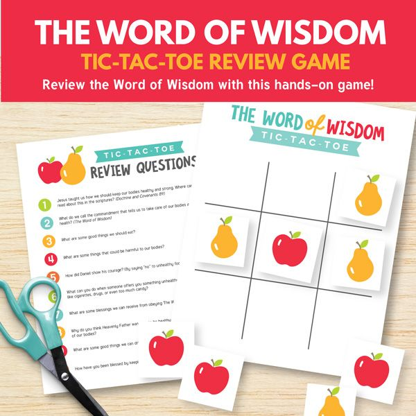 The Word of Wisdom (Primary 3 Lesson 14) - printable ...