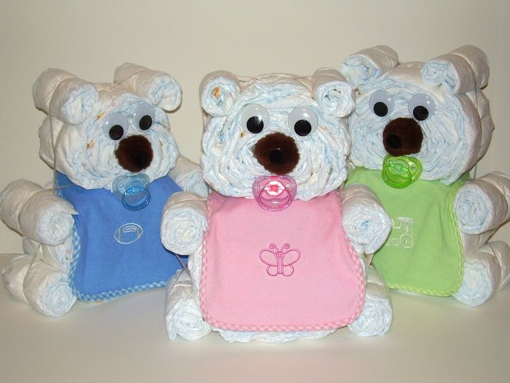diy teddy bear diaper cake - Google Search