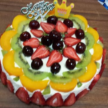 Fruit Salad Birthday Cake