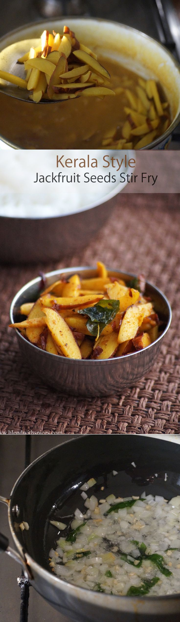 Chakkakuru Mezhukkupuratti Recipe / Kerala Style Jackfruit Seeds Stir Fry Recipe with step by step pictures and VIDEO.... #indianfood #recipes blendwithspices.com