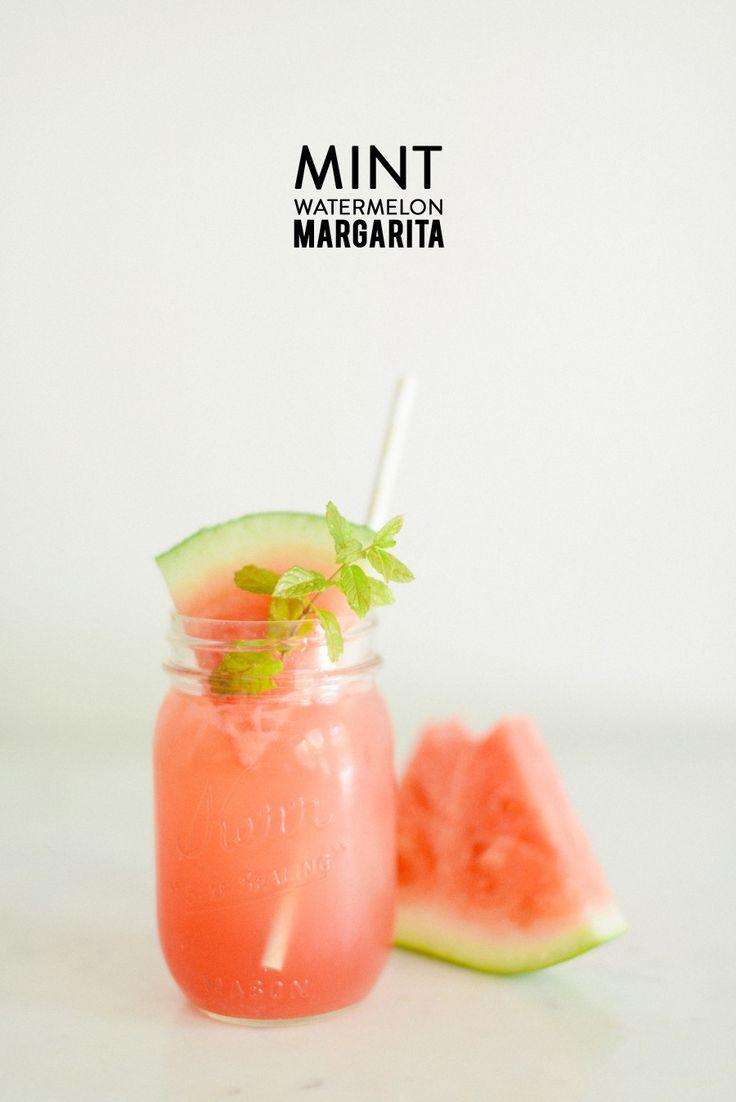 Photography: Rustic White - www.rusticwhite.com/  Read More: http://www.stylemepretty.com/living/2014/07/18/mint-watermelon-margarita/
