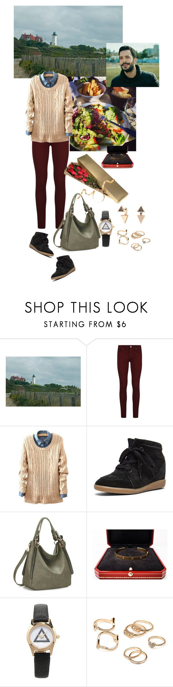 """""""Date 3 (March 20, 2014)"""" by medicicapetiens ❤ liked on Polyvore featuring Paige Denim, Isabel Marant, Cartier, GET LOST, Forever 21 and Rebecca Minkoff"""