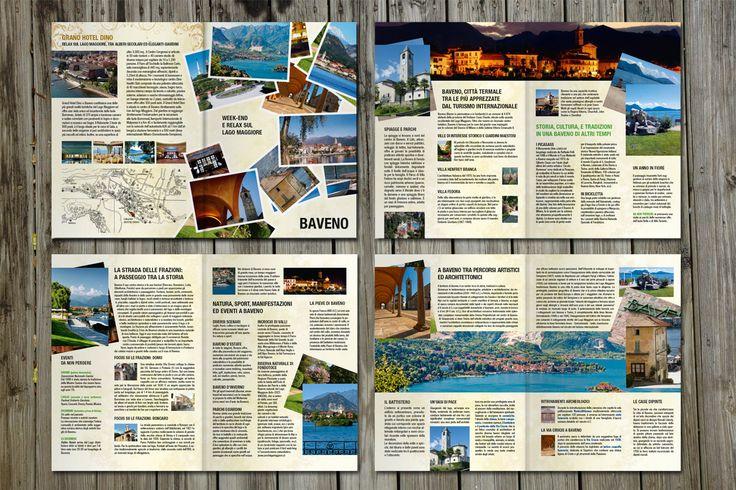 Realizzata una brochure turistica e informativa per la città di Baveno, Lago Maggiore. Formato A5 – 8 pagine #nordcapstudio #grafica #design #graphic #colors #brochure #depliant #baveno #lake #lagomaggiore