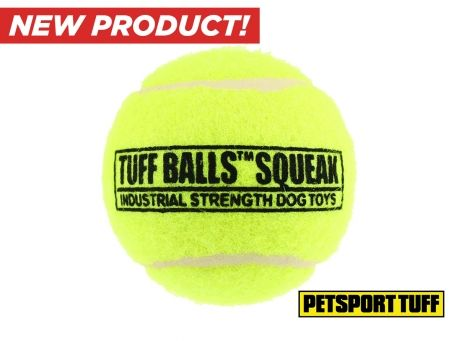 """Image of Industrial Strength Tuff 4"""" Squeaker Ball (2-Pack)"""