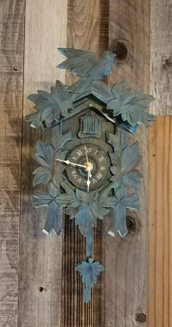My First Upcycled Cuckoo Clock Ever I Just Love The Layers Of