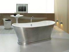 - Vasca da bagno centro stanza in ghisa ANTICA ALUMINUM - BLEU PROVENCE