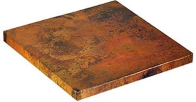 Square copper restaurant table-tops by Rustica House. #myrustica #rusticahouse