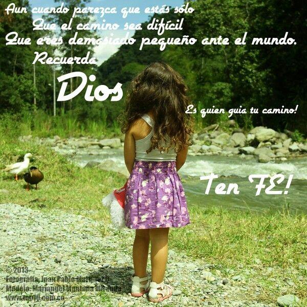 Fotografía de Mariangel en mensaje a Dios