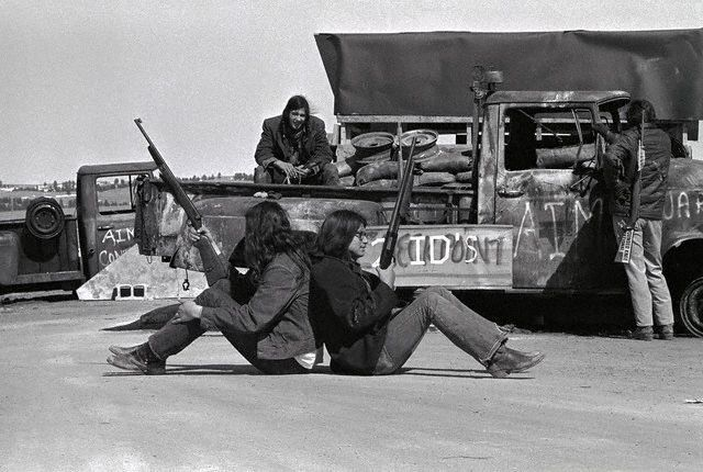 photo of AIM American Indian Movement, the Incident at Oglala