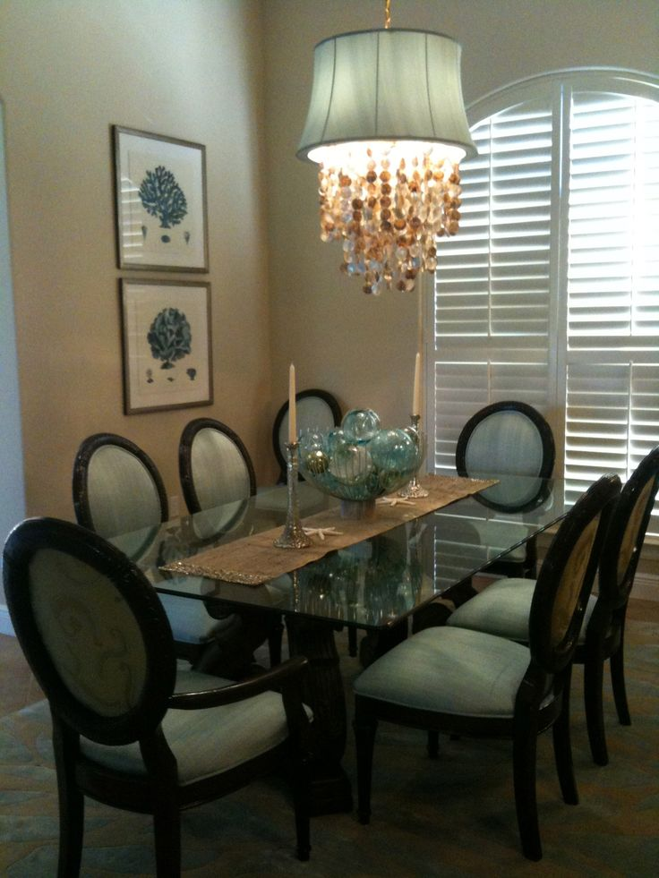 Dining Room Remodel By Lindsay Miller Of Lovelace Interiors In Destin Florida Dining Rooms