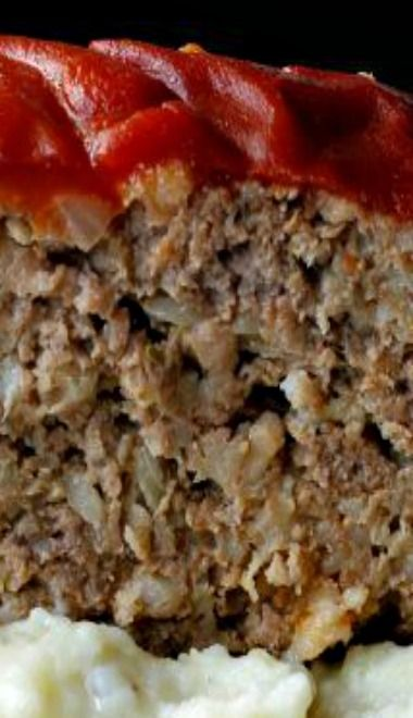 Grandma's Old Fashioned Meatloaf!! So Moist and Delicious ~ Ultimate Comfort Food Paired With Mashed Potatoes!!