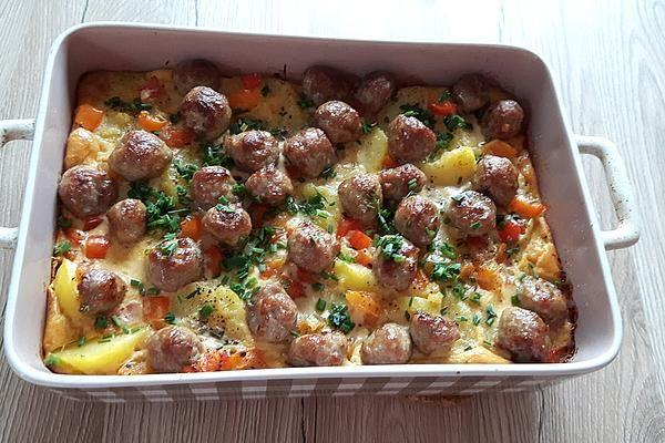 Kartoffel – Bratwurst – Auflauf – Kochrezepte
