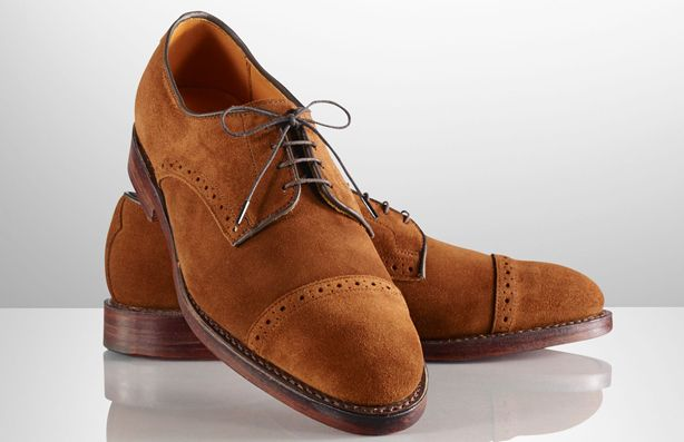 Suede Cap Toe Shoes from Ralph Lauren
