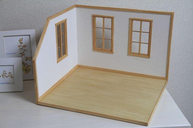 作り方a 完成 ドールハウスの家具 ミニチュアハウス ハウス