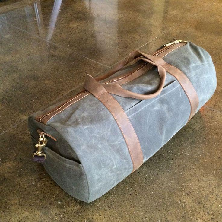 Olive Waxed Canvas Duffel Bag