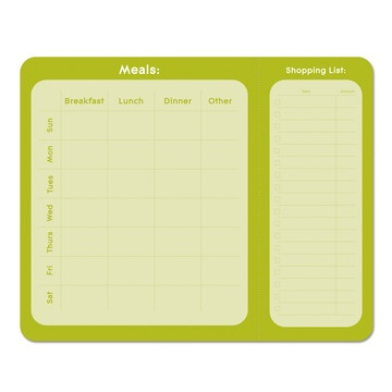 Kiwi Meal Planner Pad  by Studio Oh!Culinary Delight, Planners Notepad, Kitchens Dining, Menu Planners, Tangerine Meals, Planners Pads, Kiwi Meals, Meals Planners, Pineapple Meals