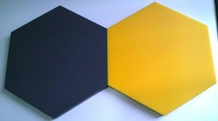 Panel akustyczny szary i żółty