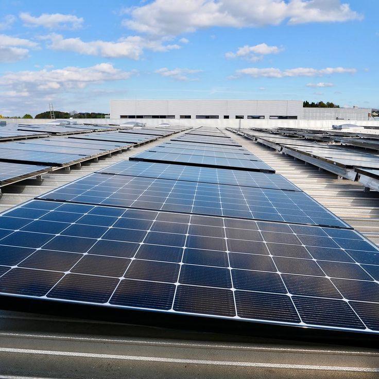 Die Josef Albus Fleisch  Wurst GmbH & Co. KG wurde von #TECHMASTER mit 311 x Neon2-Solarmodulen von @lg_de mit je 320 Watt ausgestattet. Die Photovoltaikanlage kommt damit auf eine Gesamtleistung von 9952 kWp die im Betrieb komplett zur Deckung des Eigenbedarfs genutzt wird.