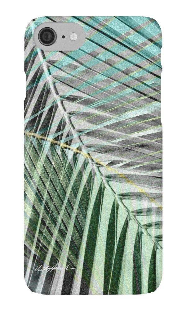 Transition: Greys Become Color iPhone Case by PolkaDotStudio, new, #tropical island #palm leaves overlap in a contemporary abstract #design for #tech #accessories. Available in coordinating products, as well as #home decor and #fashion.