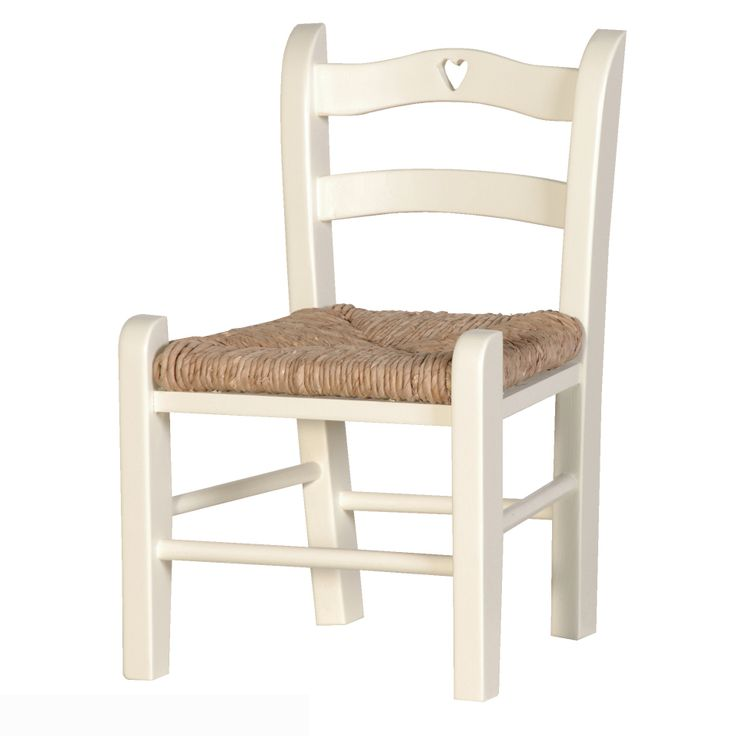 Childs Chair White With Heart | Sweetpea & Willow