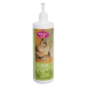 Whisker City® No Mark! Indoor Cat Urine Deterrent | Repellents | PetSmart --- Active Ingredients: Sodium Lauryl Sulfate (1.8%), Rosemary Oil (0.8%), Thyme Oil (0.8%)